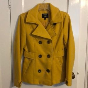 Mustard pea coat